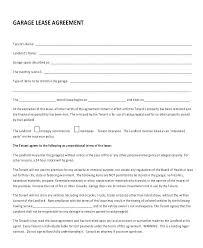 Garage Rental Contract Template – Poquet