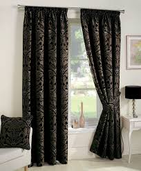 alberto black ready made curtains this is a special traditional damask curtain that is