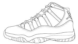 Jordan Shoes Coloring Sheets Shoes Coloring Sheets Shoe Printable