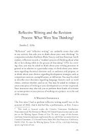 cover letter reflective essay example reflective essay example thinkingreflective cover letter critical reflection essay help reflective writing and the revision process what were you thinkingreflective