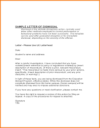 Letter Of Dismissal Template Straightforward Academic Dismissal Appeal Letter Example With Formal 65