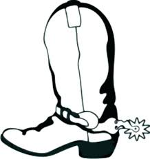 Cowboy Boots Coloring Page Running Downcom
