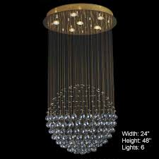 full size of lighting breathtaking sphere crystal chandelier 2 0001070 modern large mirror stainless steel base