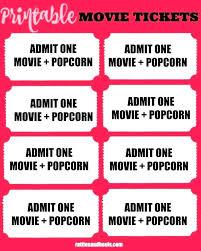 Admit One Movie Ticket Template Free Printable Invitation Templates