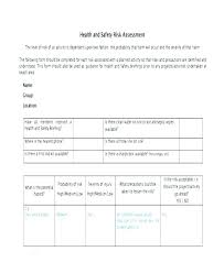 Job Analysis Template Word Report New Hazard System Safety