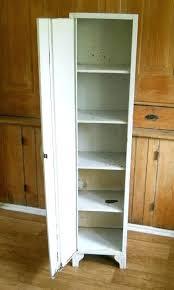 Antique Metal Cabinet Vintage Metal Storage Cabinet Tall Metal