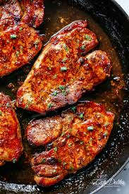 > i double so i have sauce leftover to have with the meal. Easy Honey Garlic Pork Chops Cafe Delites