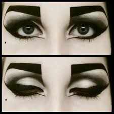 goth makeup eyelashes rock makeup tutorial