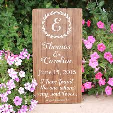 wedding wood sign with laurel hand painted rustic wood sign perfect wedding or bridal shower gift
