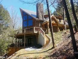 a frame cabin house plan walkout basement