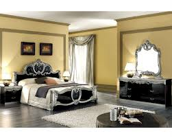 Modern Baroque Bedroom Bedroom Set Silver Baroque Classic Style Made In Italy 33b441