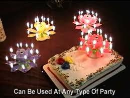 lotus flower al birthday candles