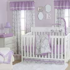 damask purple grey baby girl crib bedding 18 piece set by the peanut shell