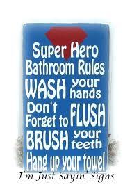 bathroom rules sign bathroom rules sign for school super hero wood bathroom rules sign hobby lobby