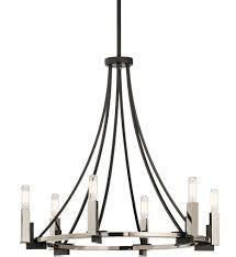 kichler 43290bk bensimone black 6 light chandelier undefined