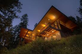 balcony lighting modern lakefront cabin in idaho usa balcony lighting