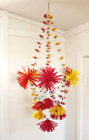 tissue paper chandelier flower by young the corner gallery how to make a out of