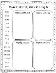 From novice to master learners. Long U Phonics Word Work Activities U E Ue Oo Ew Ui Tpt