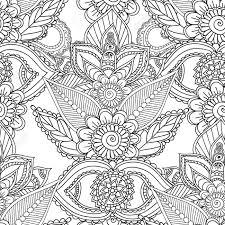 Disegni Da Colorare Per Gli Adulti Senza Soluzione Di Continuità Patternhenna Mehndi Doodles Abstract Floral Paisley Elementi Di Design Mandala