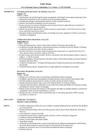 Business Resume Security Business Analyst Resume Samples Velvet Jobs 34