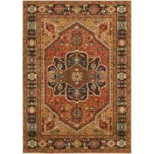 macael rust 4 ft x 6 ft area rug