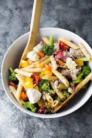 healthy chicken pasta recipes. Contemporary Chicken Healthy Greek Chicken Pasta Salad Recipe In Bowl With Spoons Throughout Recipes