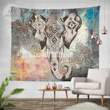 extraordinary idea elephant wall hanging modern home bohemian tapestry hippie nursery india pattern uk