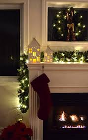 mantel lighting. fireplacemantelholidaylights2 mantel lighting