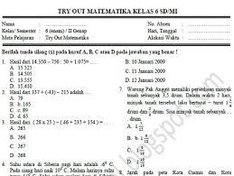 Savesave soal uts matematika kelas 6 semester 2.pdf for later. Download Contoh Soal Try Out Matematika Kelas 6 Sd Mi Disertai Kunci Jawaban Tahun 2020 Info Pendidikan