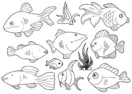 Small Fish Template Coloring Pages Disney Halloween Free Printable For Adults Small Fish