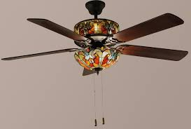stained glass ceiling fan. Ceiling Fan With Stained Glass Light Kit L