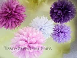 how to make pom poms with tissue paper