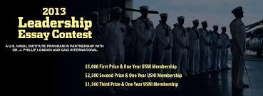 leadership essay contest u s naval institute winners
