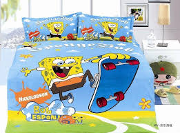 Spongebob printed bedding sets single twin size bedspread ... & Spongebob printed bedding sets single twin size bedspread Childrens boys  home decor quilt duvet cover 3pc no filler blue colour-in Bedding Sets from  Home ... Adamdwight.com
