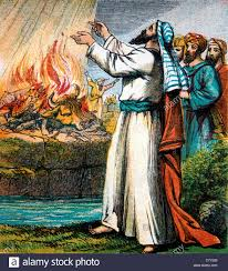 elijah in the bible. Modren The Bible Stories Illustration Of Elijah Asking God To Accept The Sacrifice   Stock Image For In N