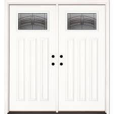 exterior double doors. Feather River Doors 66 In. X 81.625 Rochester Patina Craftsman Unfinished Smooth Left Exterior Double O