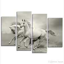 canvas art wall decor horse art canvas prints painting animal 4 panel canvas art for living room bedroom wall home decorations no frame animal wall art