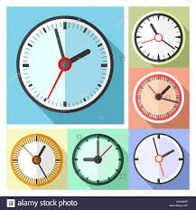 wall clocks for office. Modern Office Wall Clocks Icon Set For I