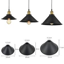 stglighting 8 7 industrial vintage metal bulb guard iron cone hanging ceiling pendant light holder decorative lamp shade decorative ring not included