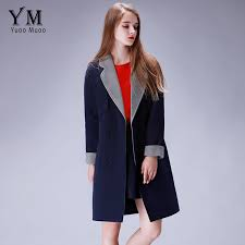 yuoomuoo brand design wool coat women british style long winter coat 2 piece set women jacket european fashion cashmere coat
