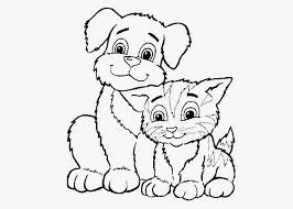 Small Picture Cats and Dogs Coloring Pages For Kids Free All About Free Coloring