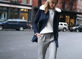 marks and spencer double ted navy pea coat plaid pants chunky knit work wear fashion blog memorandum7