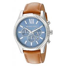 michael kors lexington blue dial leather strap chronograph men s watch mk8537 michael kors brands