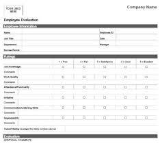 Employee Performance Template Employee Performance Evaluation Form 30 Fabulous Templates To