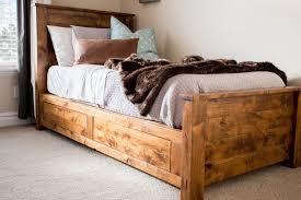 Image of: DIY Storage Bed Frame