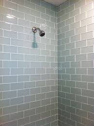 bathroom glass tile shower. tile-shower-7 transitional-bathroom splitface bathroom glass tile shower