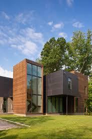Boxx Contemporary Furniture Design Modern Box House With Interior Glass Bridges
