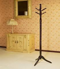 vintage wood coat rack free standing floor stand hall tree holder wooden hat 1 of 8only 2 available