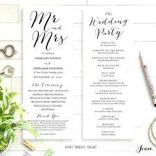 Booklet Wedding Program Template Church Order Of Service