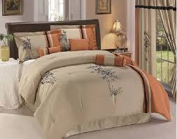 stylish asian comforter set 7pc rust taupe black oriental bamboo queen king asian bedding sets comforters decor